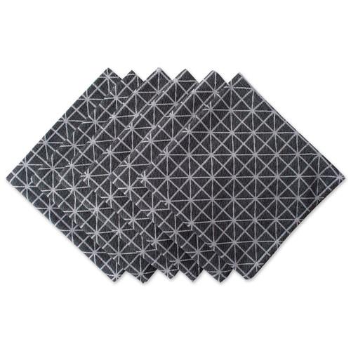 Black and White Geometric Cloth Napkins - Set of 6