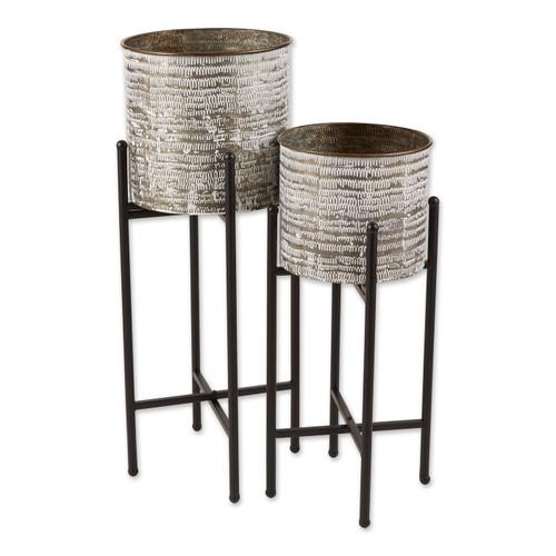 Galvanized Sheet Metal Rustic Plant Stand Set