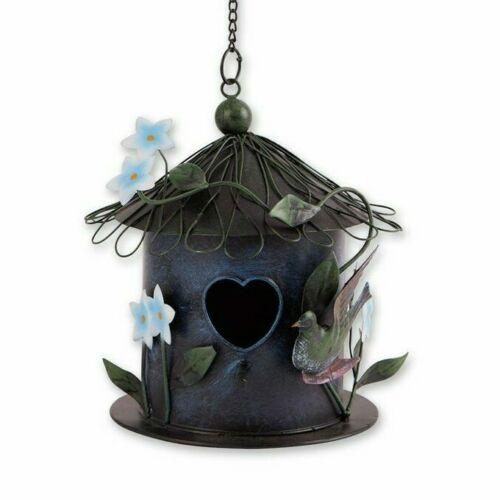 Whimsical Blue Metal Birdhouse