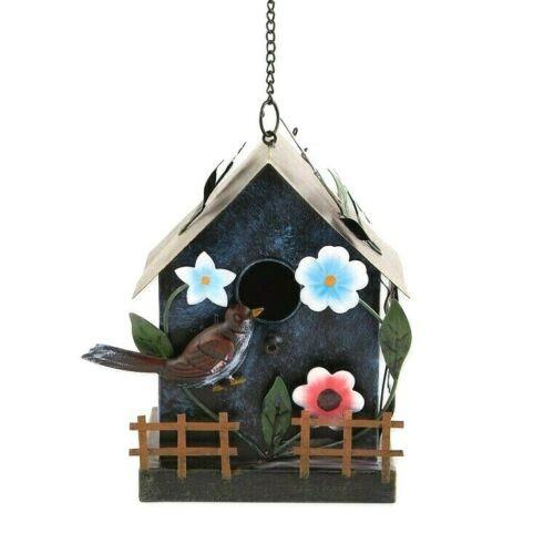 Garden Cottage Metal Birdhouse