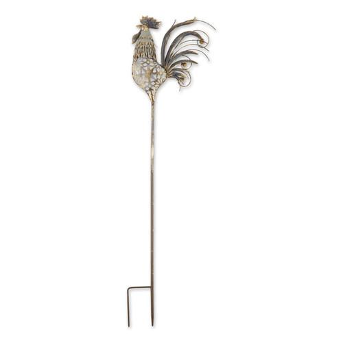 Vintage-Look Metal Rooster Garden Stake