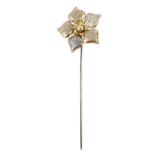 Mixed Pattern Metal Flower Garden Stake - 38.5 inches