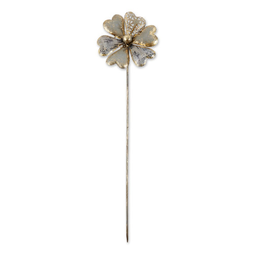 Mixed Pattern Metal Flower Garden Stake - 37.5 inches
