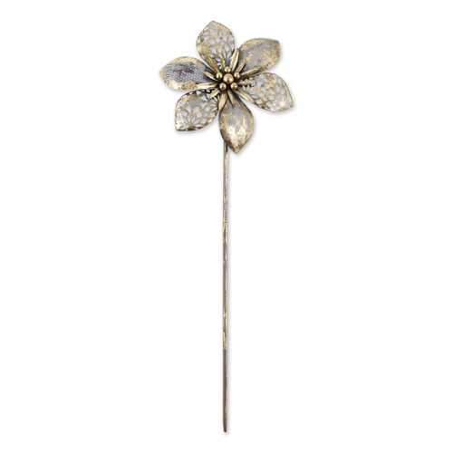 Mixed Pattern Metal Flower Garden Stake - 29.5 inches