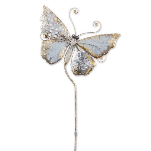 Mixed Pattern Metal Butterfly Garden Stake - 35 inches