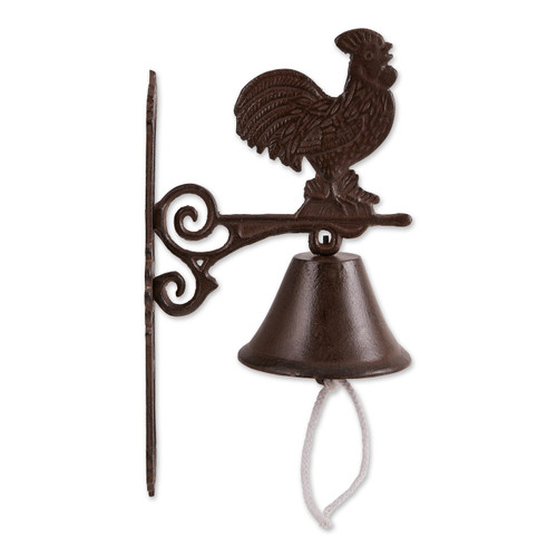 Wall-Mounted Cast Iron Rooster Bell