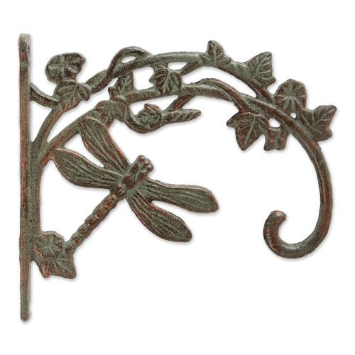 Cast Iron Plant Hanging Bracket Hook - Dragonfly