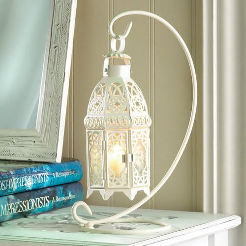 Lacy Cutout Hanging Candle Lantern