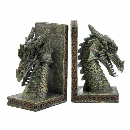 Horned Dragon Bookend Set