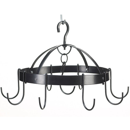 Space-Saving Round Pot Rack