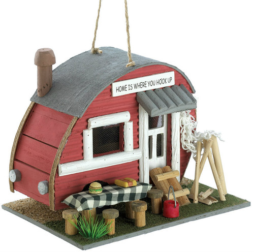 Wood Vintage Trailer Bird House