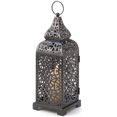 Iron Candle Lantern Tower - 13 inches