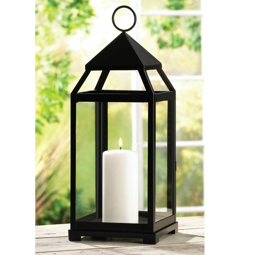 Iron Classic Candle Lantern - 17.5 inches