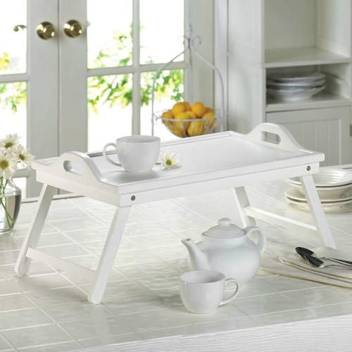 White Wood Breakfast-in-Bed Tray