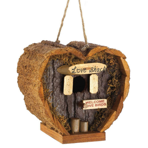 Heart-Shaped Love Shack Mini Bird House