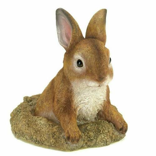 Stone-Look Bunny Garden Sculpture