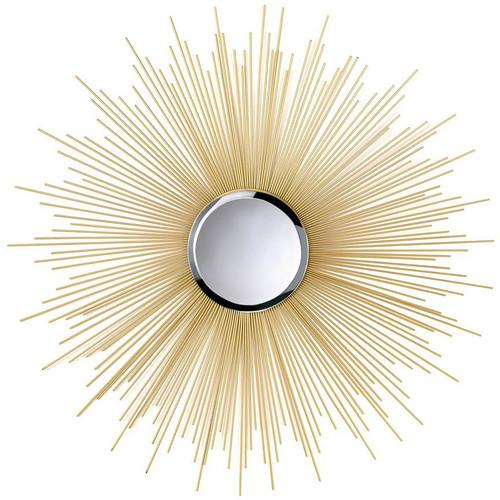 32-inch Golden Sunburst Wall Mirror