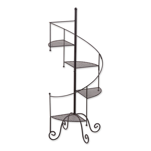 Iron Spiral Staircase Plant Stand