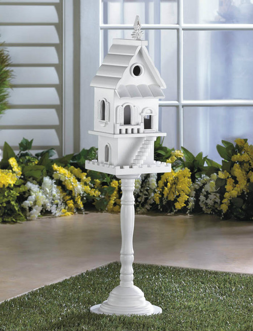 Victorian Two-Story Pedestal Bird House