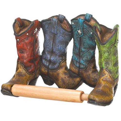 Cowboy Boots Toilet Paper Holder