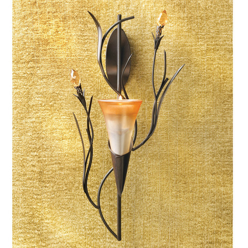 Lily Blossom Wall Candle Holder