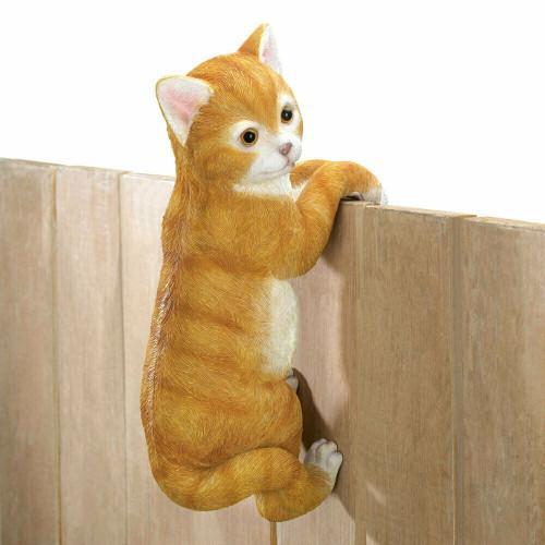Climbing Cat Garden Decor