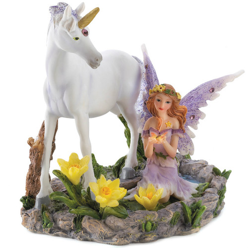 Magical Forest Fairy with Unicorn