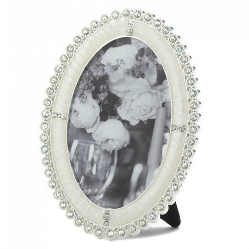 Oval Rhinestone Photo Frame - 4x6