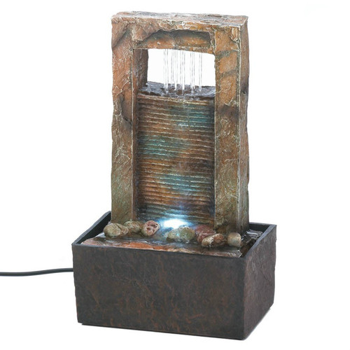 Lighted Architectural Tabletop Fountain