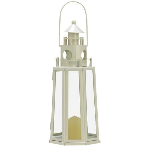 Ivory Lighthouse Candle Lantern - 12 inches