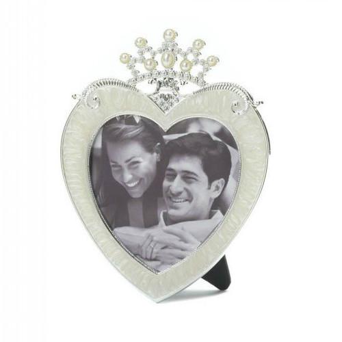 Princess Crown Heart Frame - 3x3