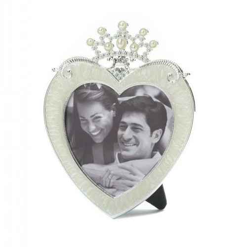 Princess Crown Heart Frame - 3x3
