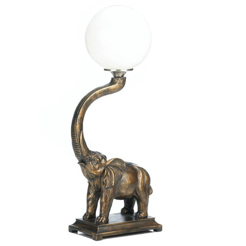 Trumpeting Elephant Globe Accent Lamp