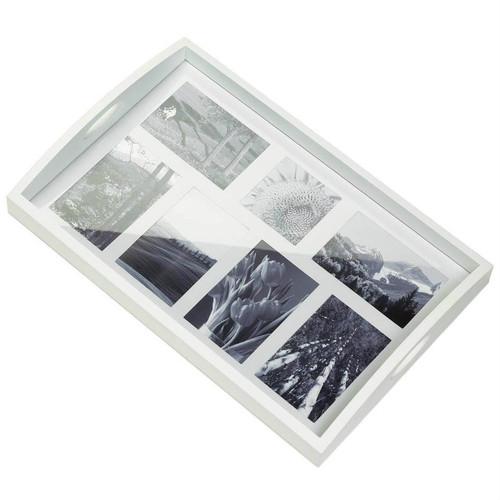 Multi-Photo Frame Wood Tray