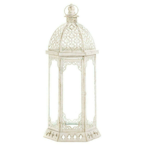 Vintage-Look Distressed Candle Lantern - 20 inches