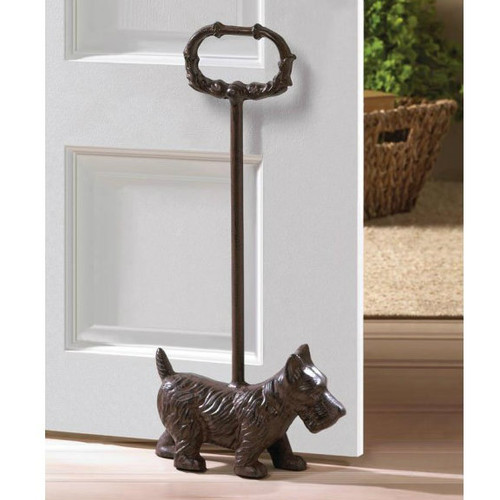 Cast Iron Dog Door Stopper with Handle