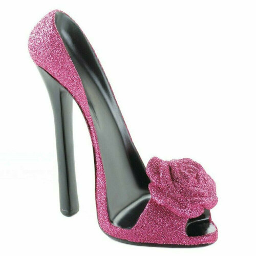 Pink Rose High Heel Shoe Phone Holder