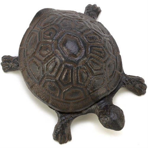 Cast Iron Turtle Key Hider