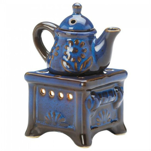 Blue Teapot and Stove Oil Warmer