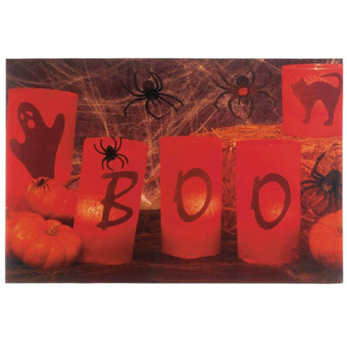 Light-Up BOO Canvas Halloween Art