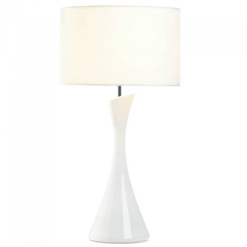 Sleek Modern Table Lamp - White