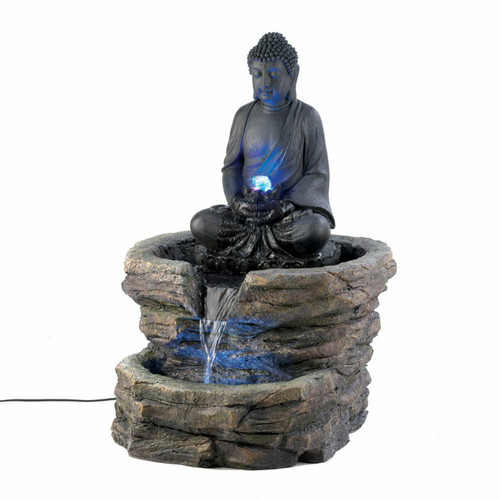 Buddha Lighted Garden Fountain