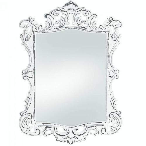 Royal Distressed White Wall Mirror