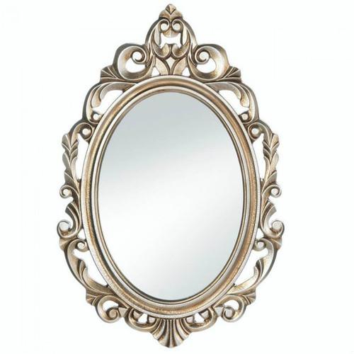 Gold Royal Crown Wood Wall Mirror