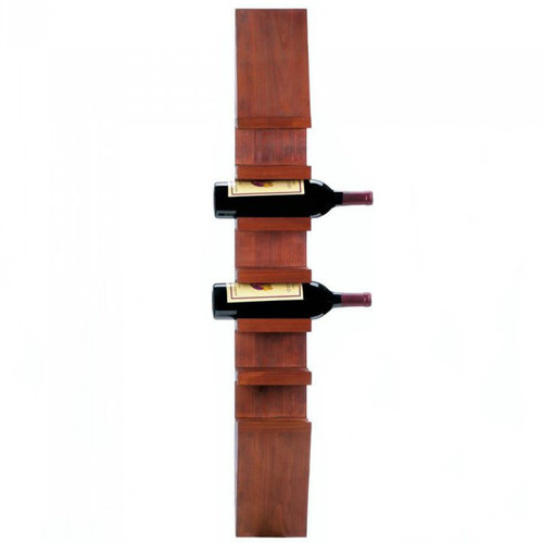Wall-Mounted Vertical Wood Wine Rack