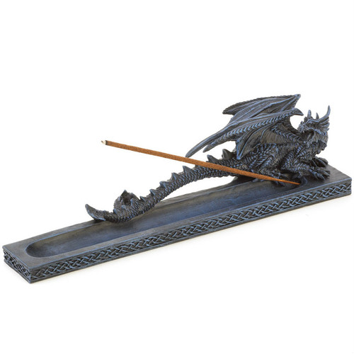 Dragon Incense Holder with Celtic Knot Trim