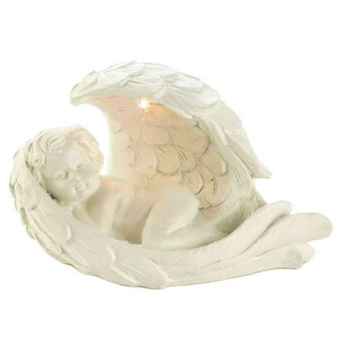 Cherub in Wing Solar Garden Light