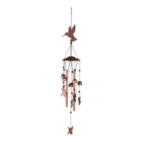 Fluttering Hummingbirds Metal Wind Chimes
