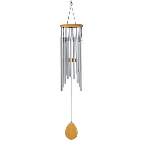 Classic Aluminum Waterfall Wind Chimes - 28 inches
