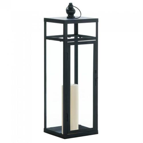 Black Geometric Lantern - 22.5 inches